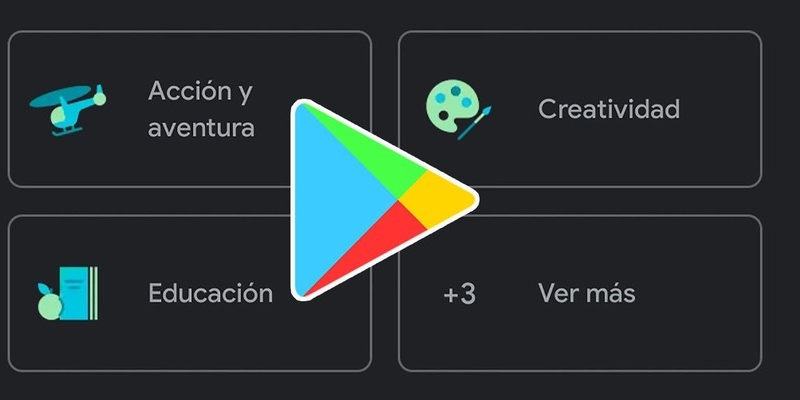 Changes in the design of Google Play Store