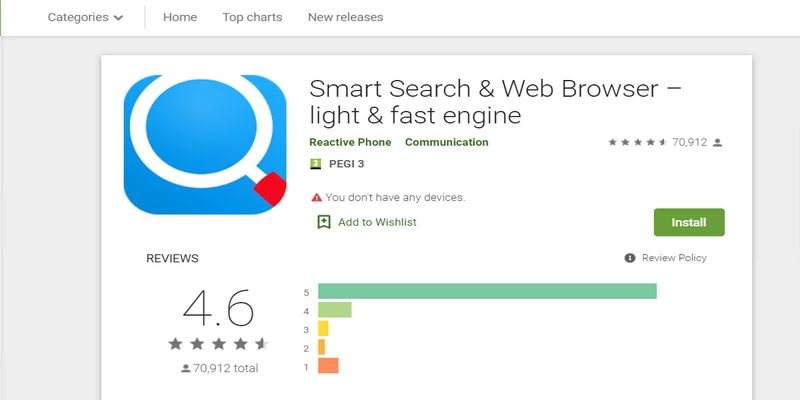 The success of Smart Search & Web Browser - light & fast engine