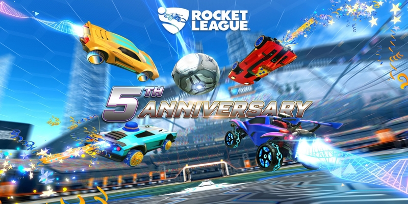 The celebration of Rocket League's fifth anniversary