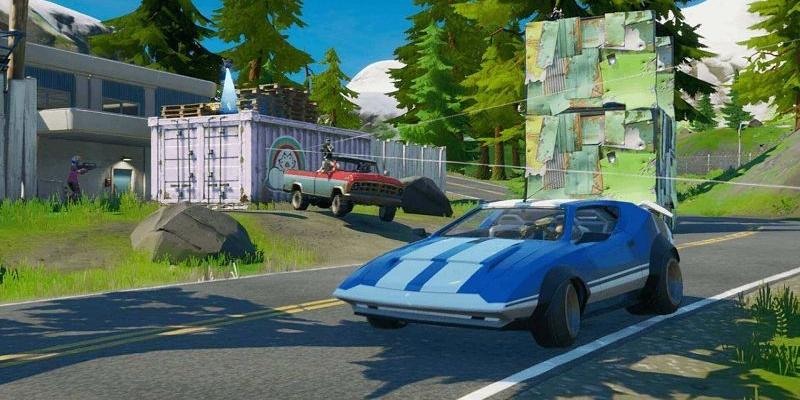 Cars arrive at Fortnite