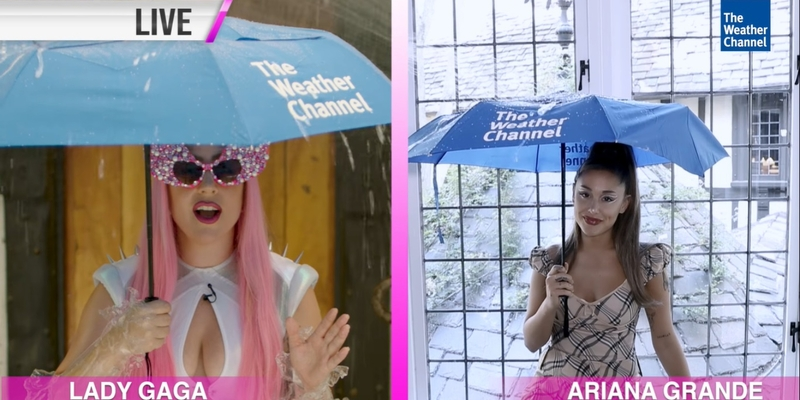 The Weather Channel is promoting Lady Gaga´s new single ¨Rain On Me¨